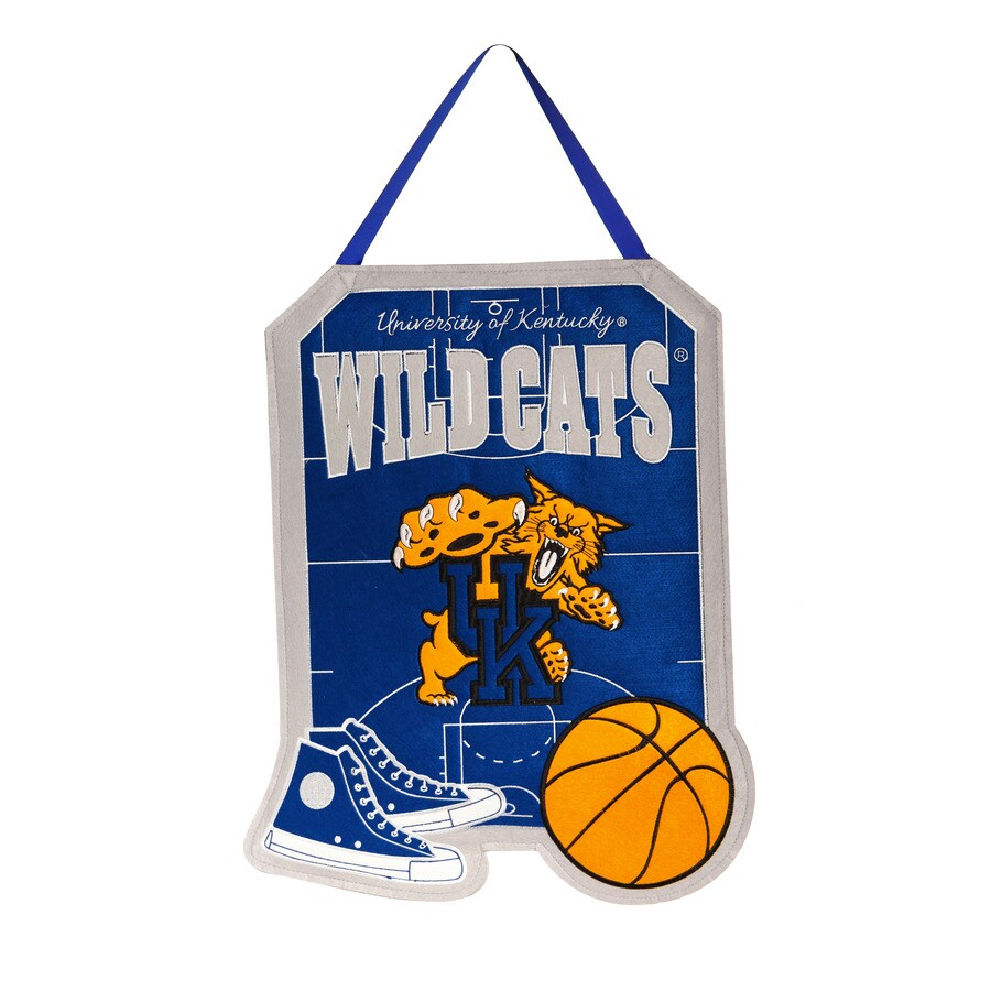 Evergreen 1.25-ft W x 1.66-ft H Sports Embroidered Kentucky Wildcats Flag
