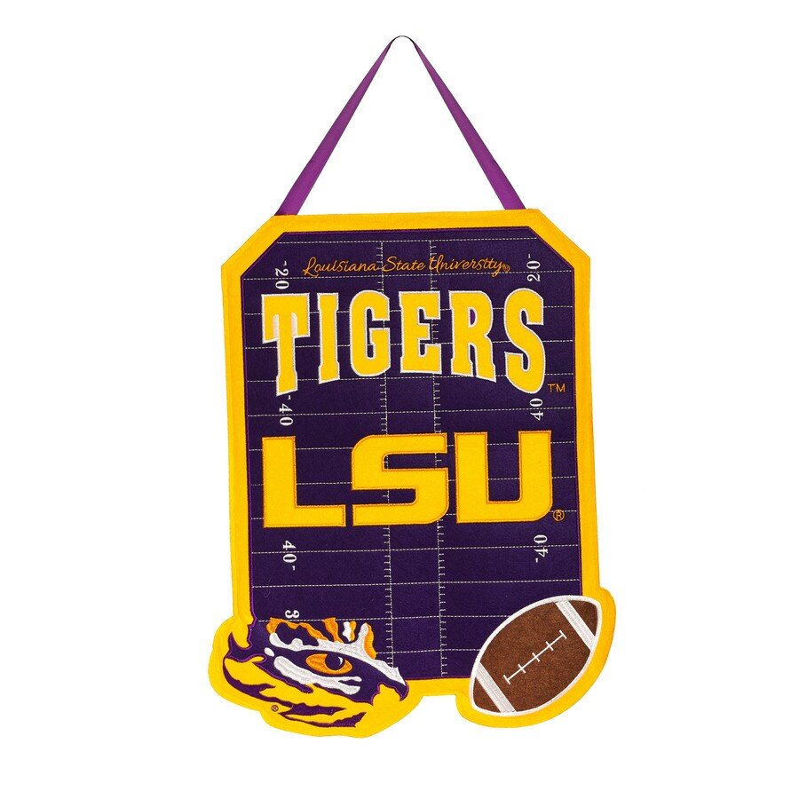 Evergreen 1.25-ft W x 1.66-ft H Sports Embroidered Louisiana LSU Tigers Flag