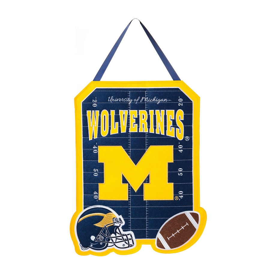 Evergreen 1.25-ft W x 1.66-ft H Sports Embroidered Michigan Wolverines Flag
