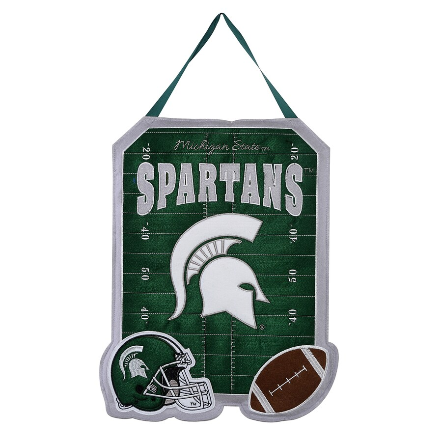 Evergreen 1.25-ft W x 1.66-ft H Sports Embroidered Michigan State Spartans Flag