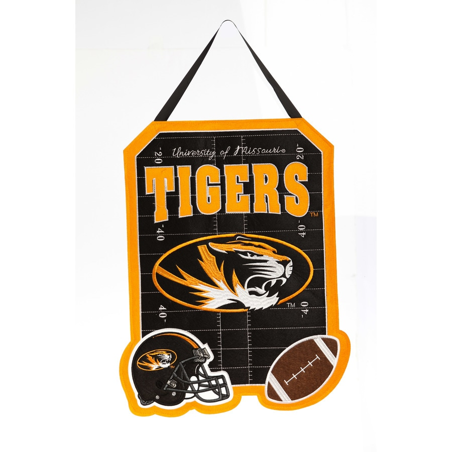 Evergreen 1.25-ft W x 1.66-ft H Sports Embroidered Missouri Tigers Flag