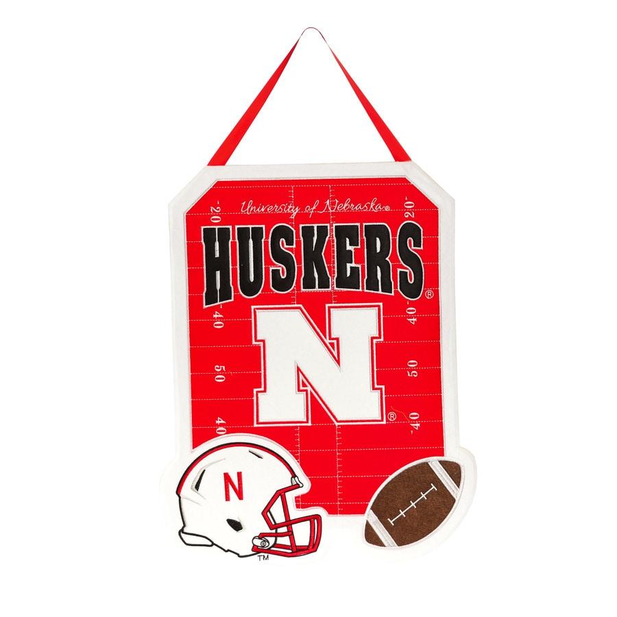 Evergreen 1.25-ft W x 1.66-ft H Sports Embroidered Nebraska Cornhuskers Flag