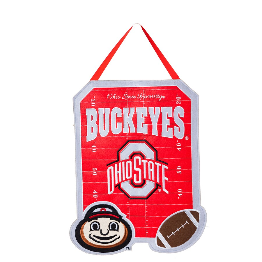Evergreen 1.25-ft W x 1.66-ft H Sports Embroidered Ohio State Buckeyes Flag