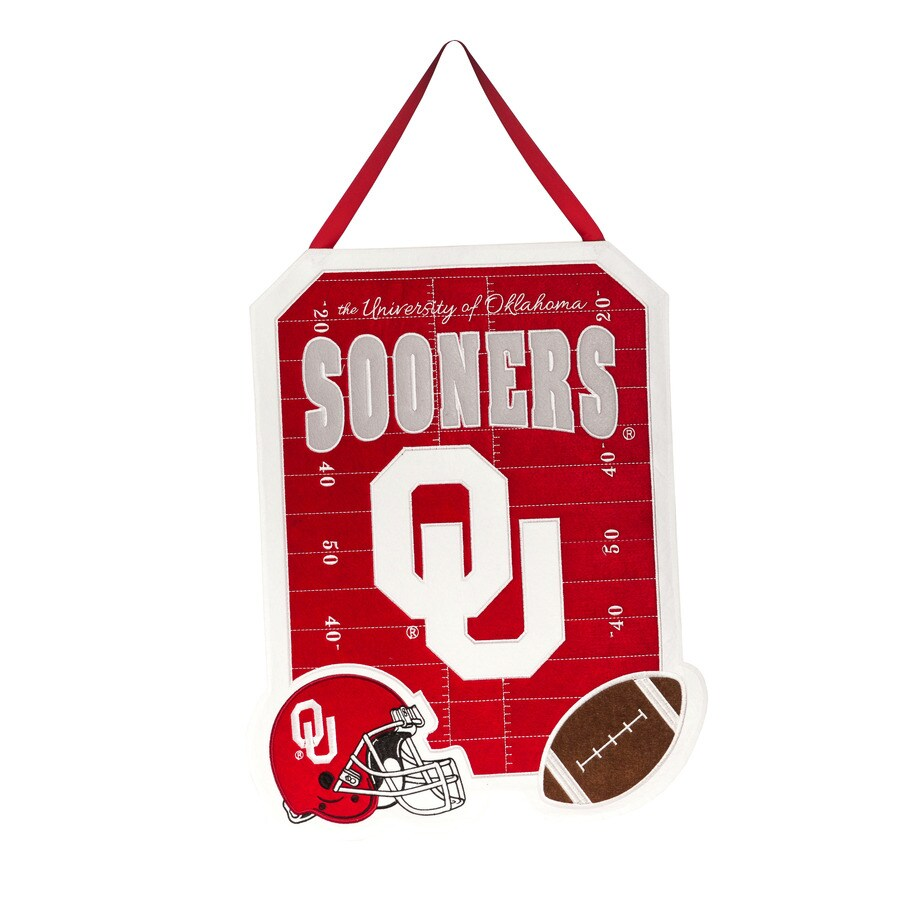 Evergreen 1.25-ft W x 1.66-ft H Sports Embroidered Oklahoma Sooners Flag