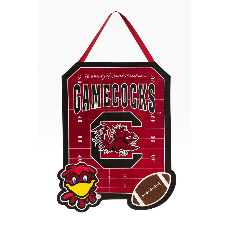 Evergreen 1.25-ft W x 1.66-ft H Sports Embroidered South Carolina Gamecocks Flag