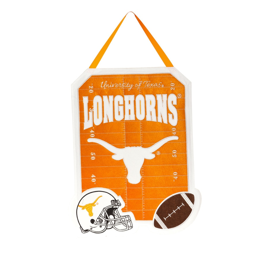 Evergreen 1.25-ft W x 1.66-ft H Sports Embroidered Texas Longhorns Flag