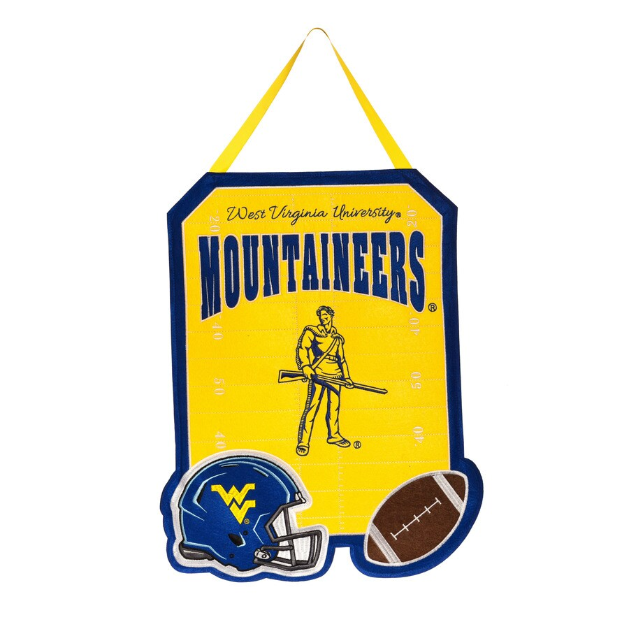 Evergreen 1.25-ft W x 1.66-ft H Sports Embroidered West Virginia Mountaineers Flag