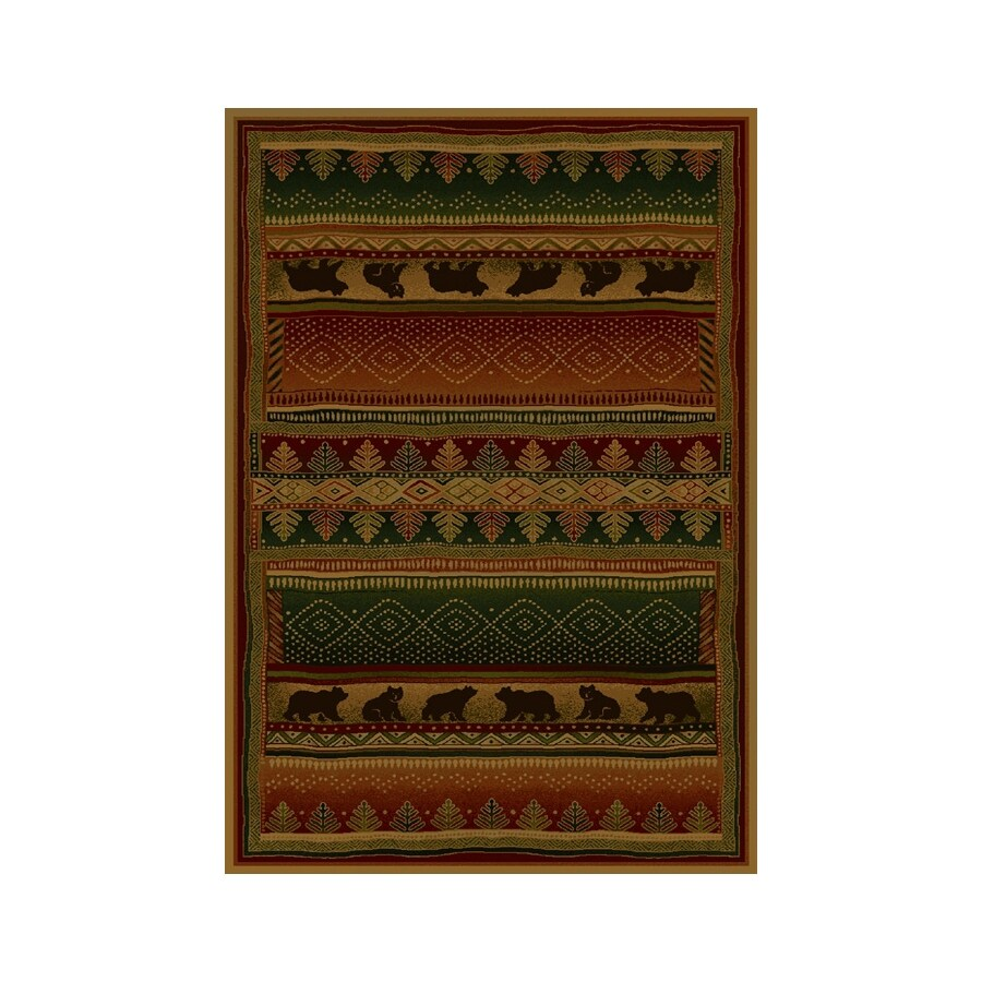 United Weavers Of America Genesis Multicolor Rectangular Indoor Woven Lodge Area Rug (Common: 5 x 8; Actual: 63-in W x 86-in L)