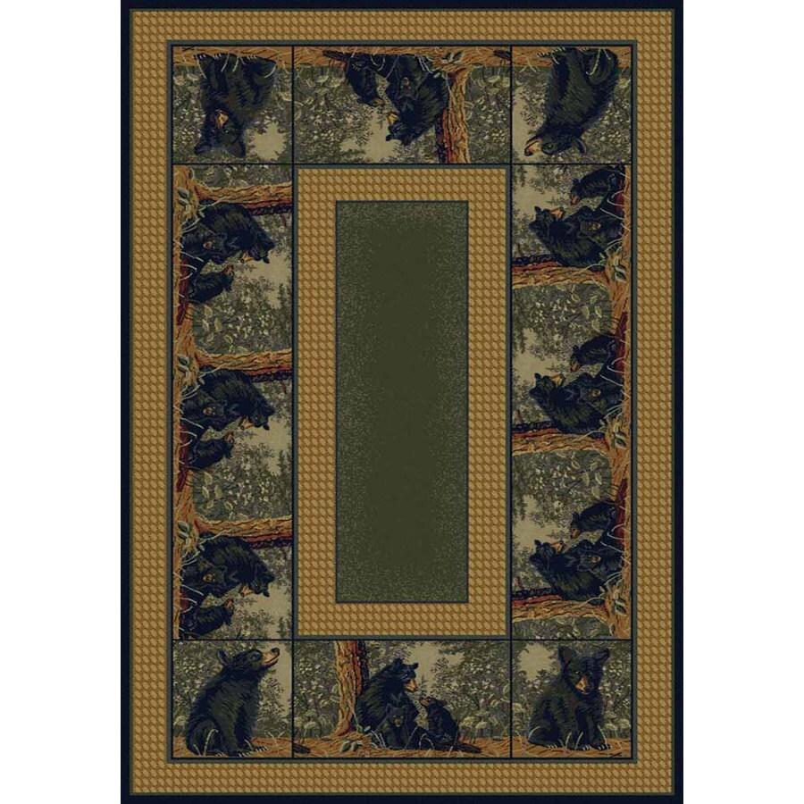 United Weavers Of America Hautman Brown Rectangular Indoor Woven Lodge Area Rug (Common: 8 x 10; Actual: 94-in W x 126-in L)