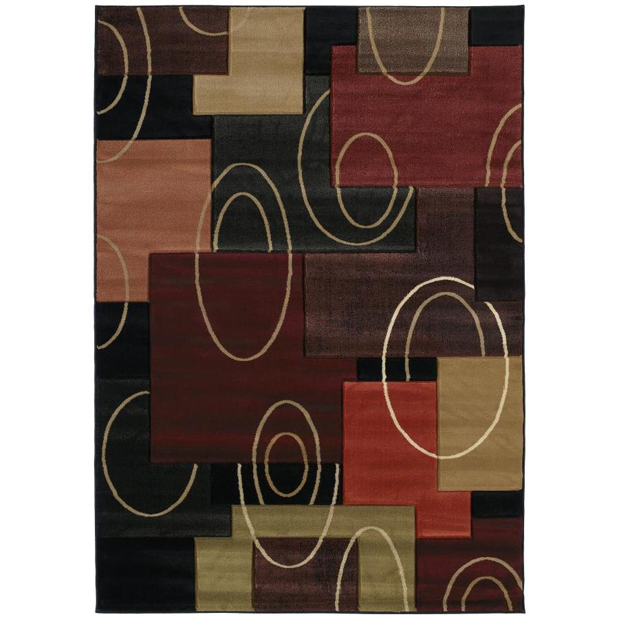 United Weavers Of America Contours Multicolor Rectangular Indoor Machine-Made Inspirational Area Rug (Common: 6 x 9; Actual: 63-ft W x 86-ft L x 0-ft Dia)