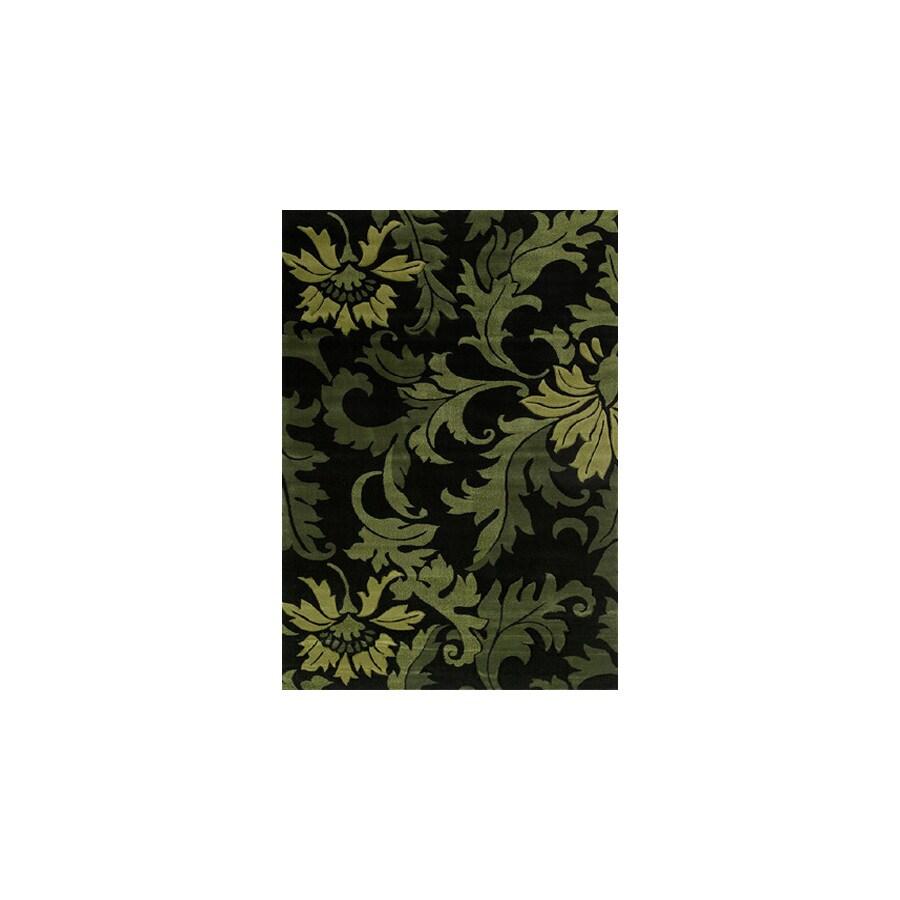 United Weavers Of America Contours Black Rectangular Indoor Woven Area Rug (Common: 8 x 10; Actual: 94-ft W x 126-ft L)