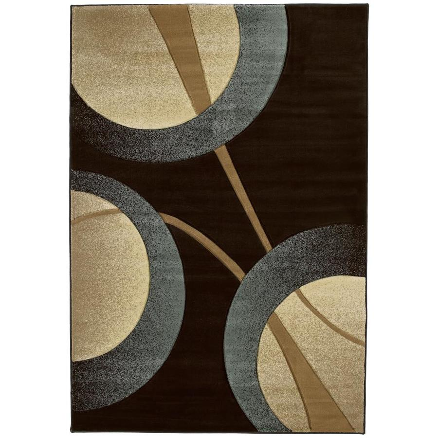 United Weavers Of America Contours Smoke Blue Indoor Area Rug