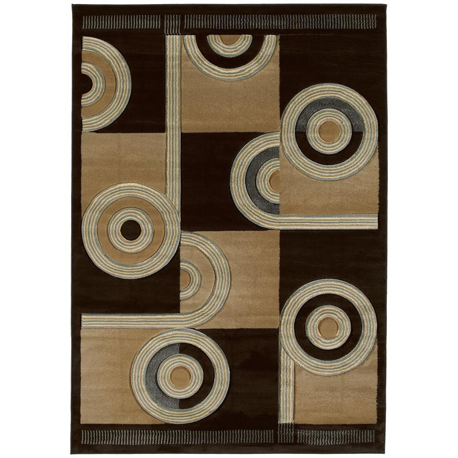 United Weavers Of America Contours Brown Rectangular Indoor Machine-Made Inspirational Area Rug (Common: 8 x 10; Actual: 94-ft W x 126-ft L x 0-ft Dia)