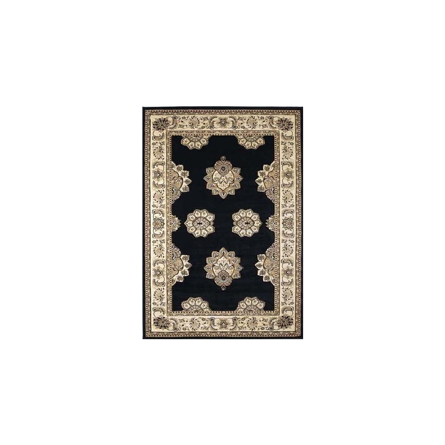 United Weavers Of America Contours Black Rectangular Indoor Woven Area Rug (Common: 5 x 8; Actual: 63-in W x 86-in L)