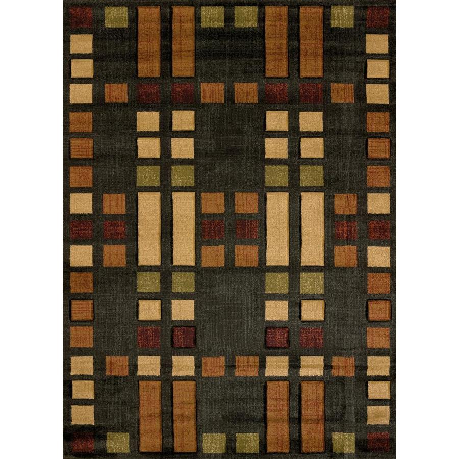 United Weavers Of America Urban Galleries Multicolor Rectangular Indoor Machine-Made Inspirational Area Rug (Common: 8 x 11; Actual: 7-ft W x 10.5-ft L)