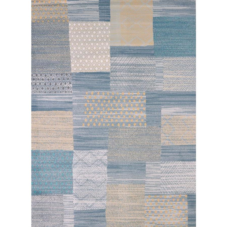 United Weavers Of America Modern Textures Multicolor Rectangular Indoor Machine-Made Coastal Area Rug (Common: 5 x 7; Actual: 5-ft W x 8-ft L x 0-ft Dia)