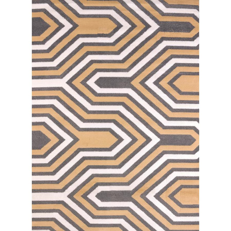 United Weavers Of America Modern Textures Multicolor Rectangular Indoor Machine-Made Inspirational Area Rug (Common: 5 x 7; Actual: 5-ft W x 8-ft L x 0-ft Dia)