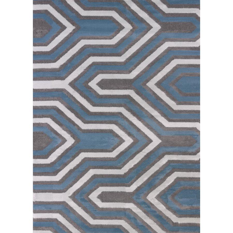 United Weavers Of America Modern Textures Multicolor Rectangular Indoor Machine-Made Inspirational Area Rug (Common: 8 x 11; Actual: 7-ft W x 10.5-ft L)