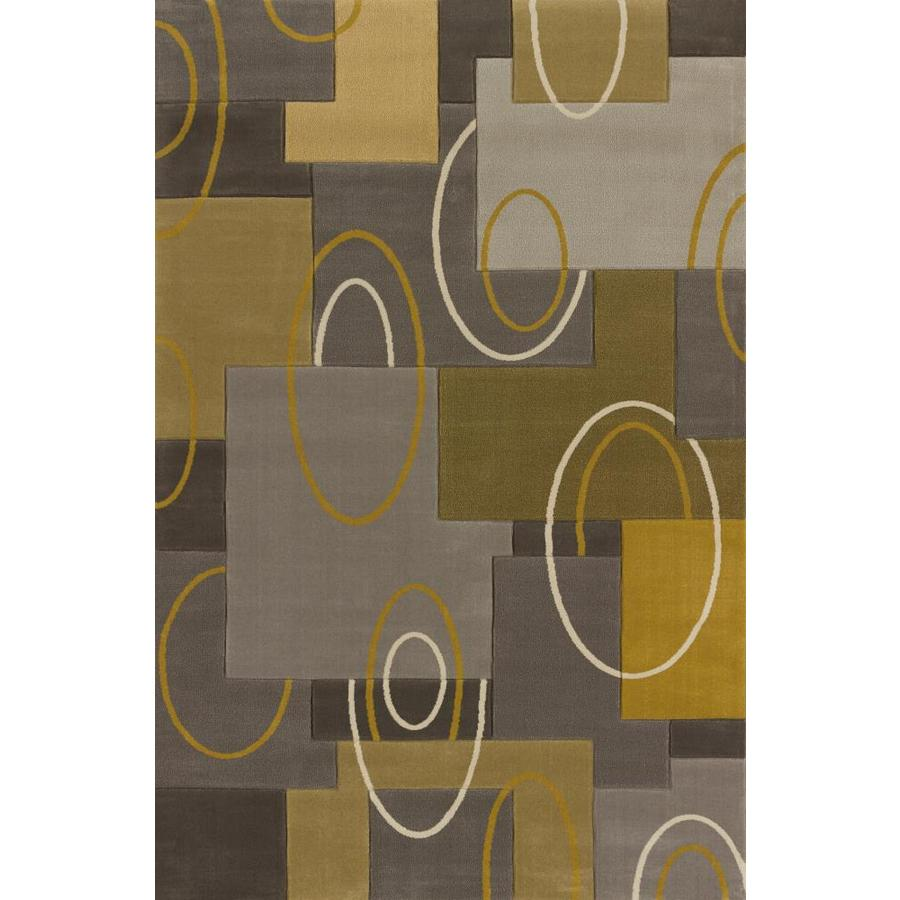 United Weavers Of America Modern Textures Multicolor Rectangular Indoor Machine-Made Inspirational Area Rug (Common: 8X11; Actual: 7-ft W x 10.5-ft L x 0-ft Dia)