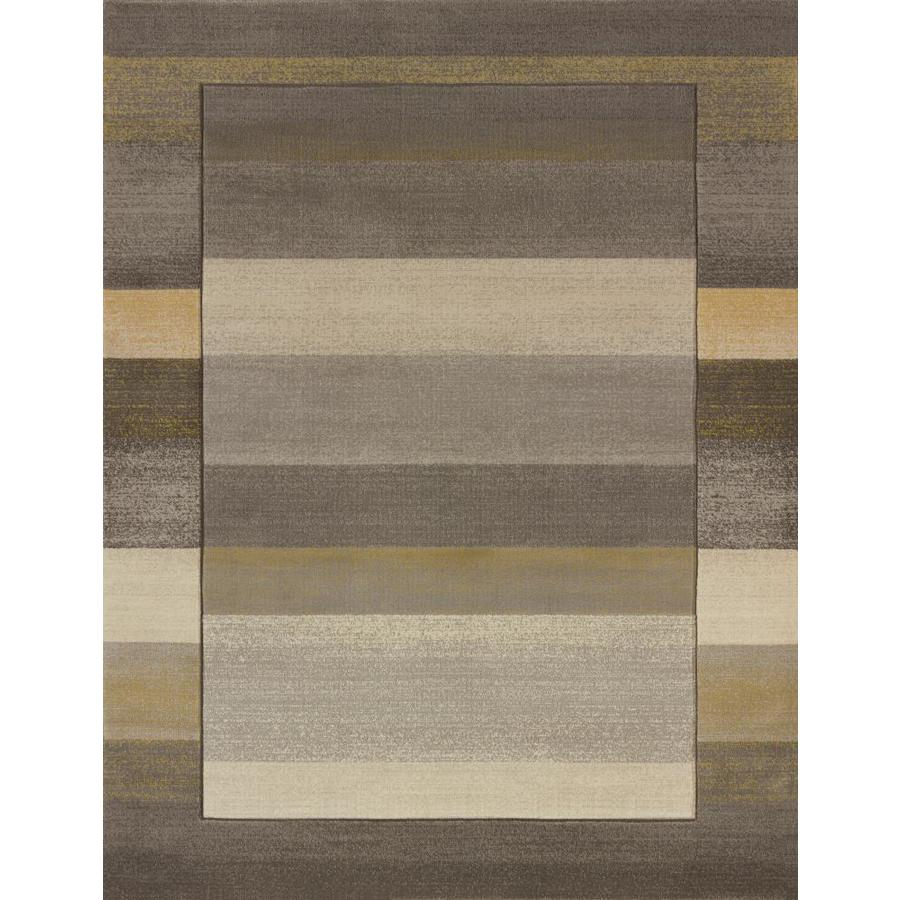 United Weavers Of America Contours Grey Indoor Area Rug Common 8 X
