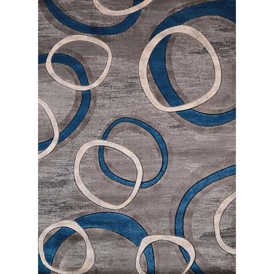 United Weavers Of America Contours Grey Indoor Novelty Area Rug