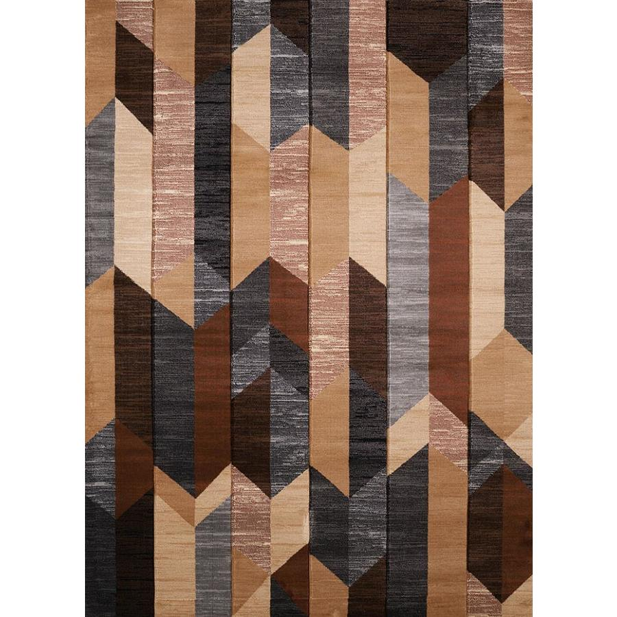 United Weavers Of America Contours Dominion Brown Accent Rug 1 Ft 10 In X 3