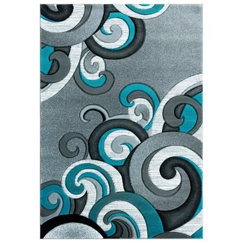 United Weavers Of America Bristol 5 X 8 Turquoise Indoor Geometric Area Rug In The Rugs Department At Lowes Com