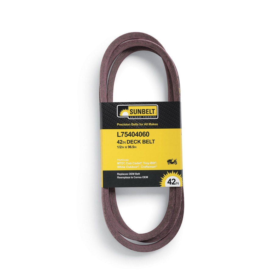 Sunbelt L 75404060 42 In Deck Belt For Riding Mower Tractors 1 2 In W X 96 5 In L In The Lawn Mower Belts Department At Lowes Com