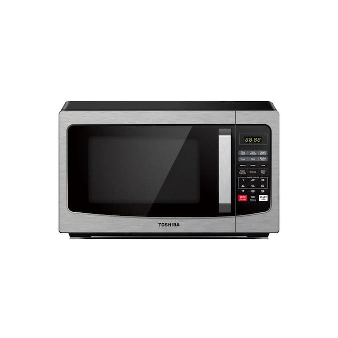 Toshiba 1 1 Cu Ft 1000 Watt Countertop Microwave Stainless Steel In The Countertop Microwaves Department At Lowes Com