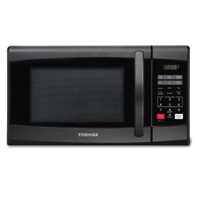 Toshiba 0.9-cu ft 900-Watt Countertop Microwave (Black