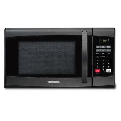 Toshiba 0.9-cu ft 900 Countertop Microwave (Black