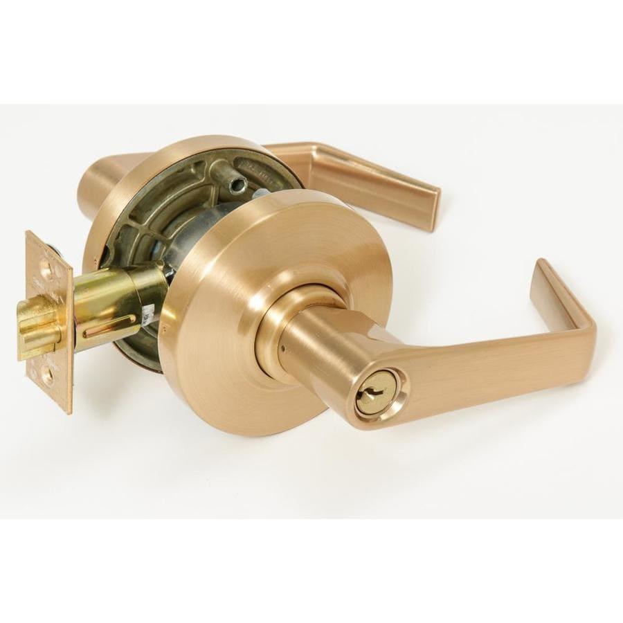 Schlage Al Series Cylindrical Lock Satin Bronze Reversible