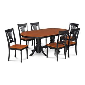 M D Furniture Somerville Black Cherry Dining Set With Oval Table