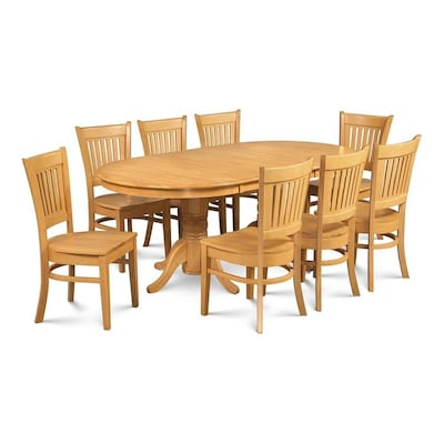 Somerville Oak Dining Set With Oval Table