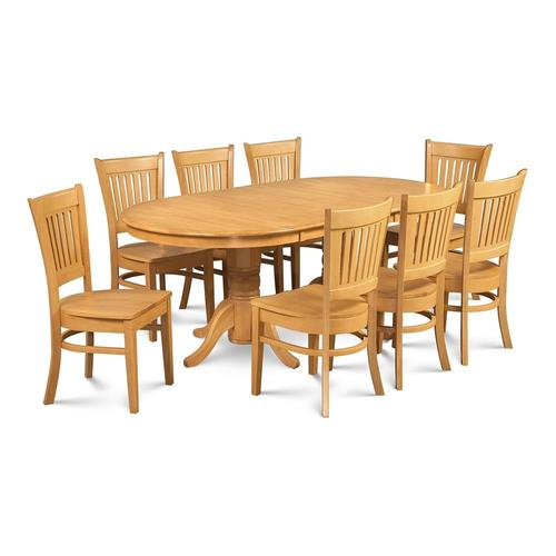 Terrific Md Furniture Somerville Oak Dining Set With Oval Dining Table At Lowes Com Theyellowbook Wood Chair Design Ideas Theyellowbookinfo