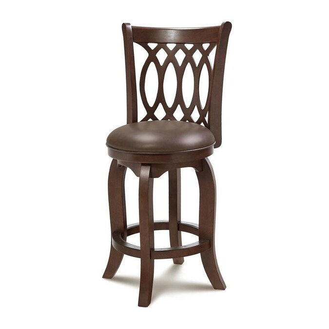 md furniture cambridge dark cherry bar height upholstered