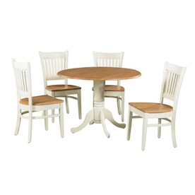 Silver Dining Table And Chairs, M D Furniture 5 Piece Drop Leaf Dining Set In The Dining Room Sets Department At Lowes Com