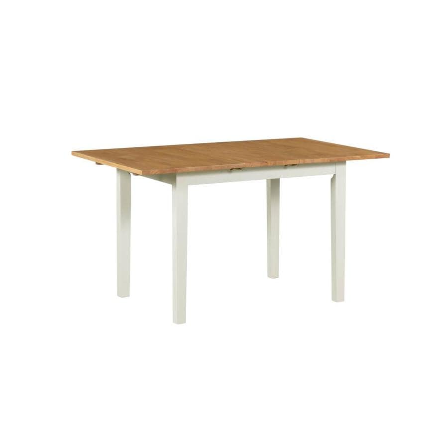 M D Furniture Hudson Buttermilk Oak Extending Butterfly Leaf Dining Table Wood With Buttermilk Oak Wood Base In The Dining Tables Department At Lowes Com