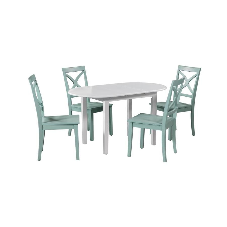 M D Furniture 5 Piece Extendable Dining Set In The Dining Room Sets Department At Lowes Com
