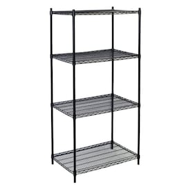 Storage Concepts 18 In D X 72 In W X 72 In H 4 Tier Wire Utility Shelving Unit In The Freestanding Shelving Units Department At Lowes Com