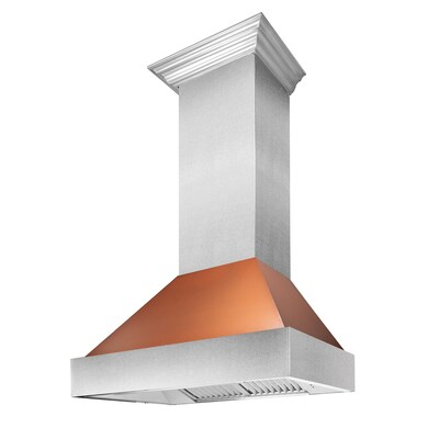 Zline Kitchen Amp Bath 8654c 36 Ducted Copper With Stainless