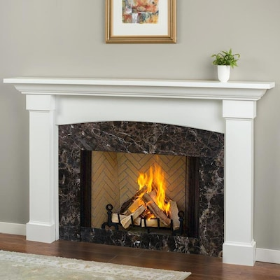 Mantels Direct 81 5 In W X 54 H White Poplar Traditional