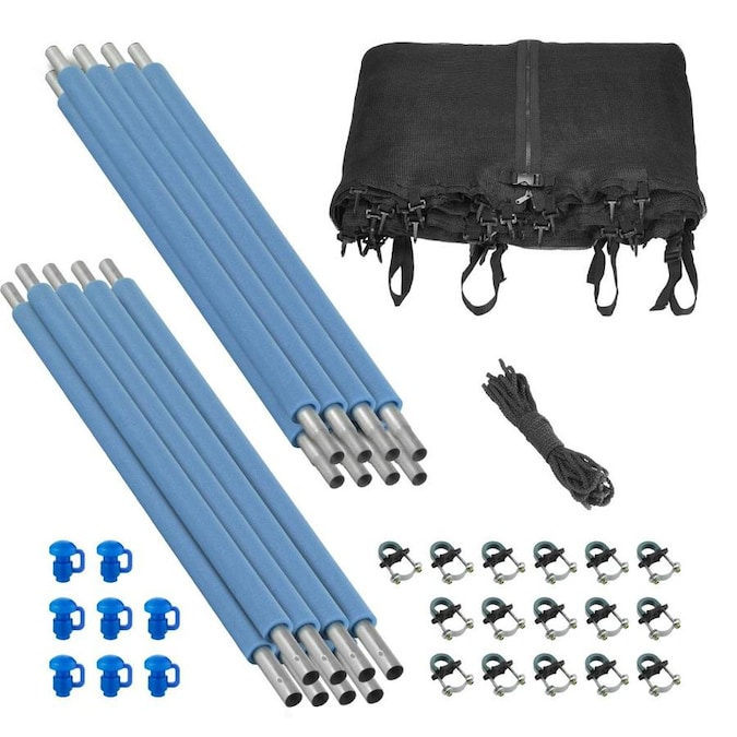 Upperbounce Trampoline Enclosure Set To Fit 13 Ft Round Frames For 4 Or 8 W Shaped Legs Set Includes Net Poles And Hardware Only In The Trampoline Accessories Department At Lowes Com