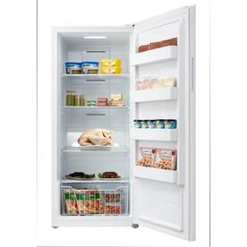 White WINIADAEWOO ELECTRONICS WFUX6MMWPE Upright Freezer 5.9 Cu Ft