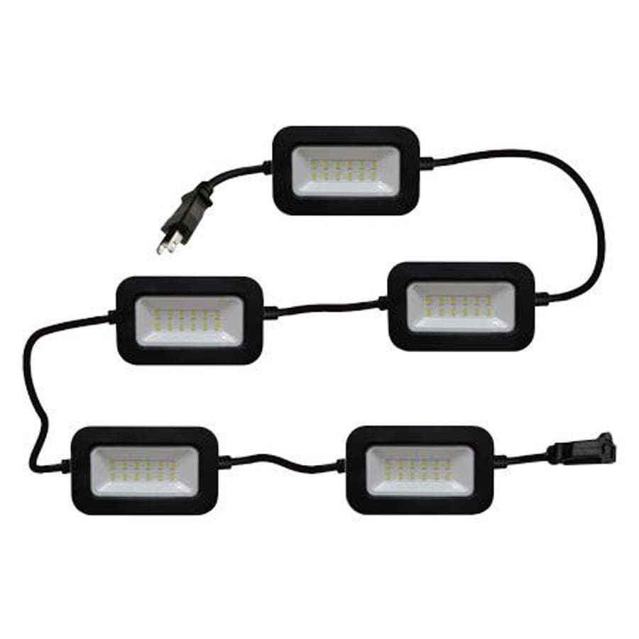 String Lights For Construction Sites : Shop Keystone LED Lighting 50-ft 5-Light White LED Plug-in Bulb String Lights at Lowes.com