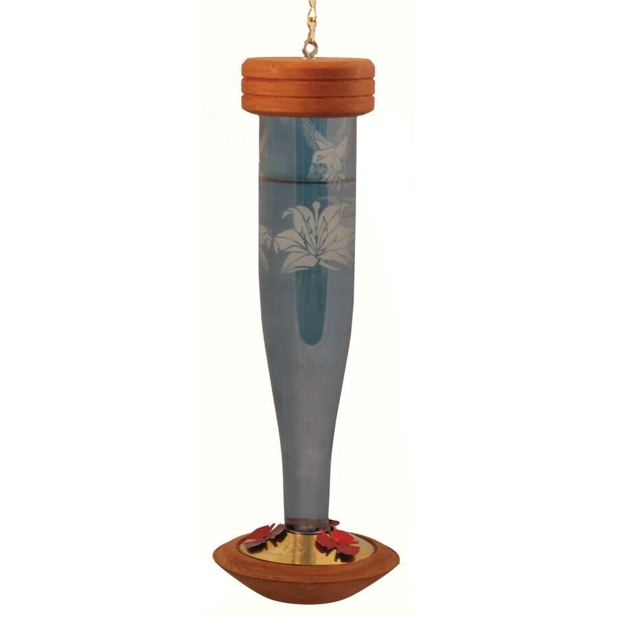 Schrodt Designs Glass Hummingbird Feeder