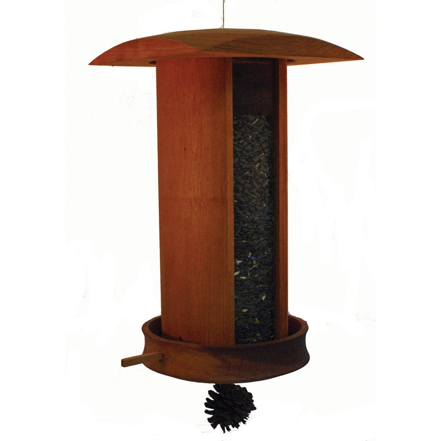 Schrodt Designs Wood Hopper Bird Feeder