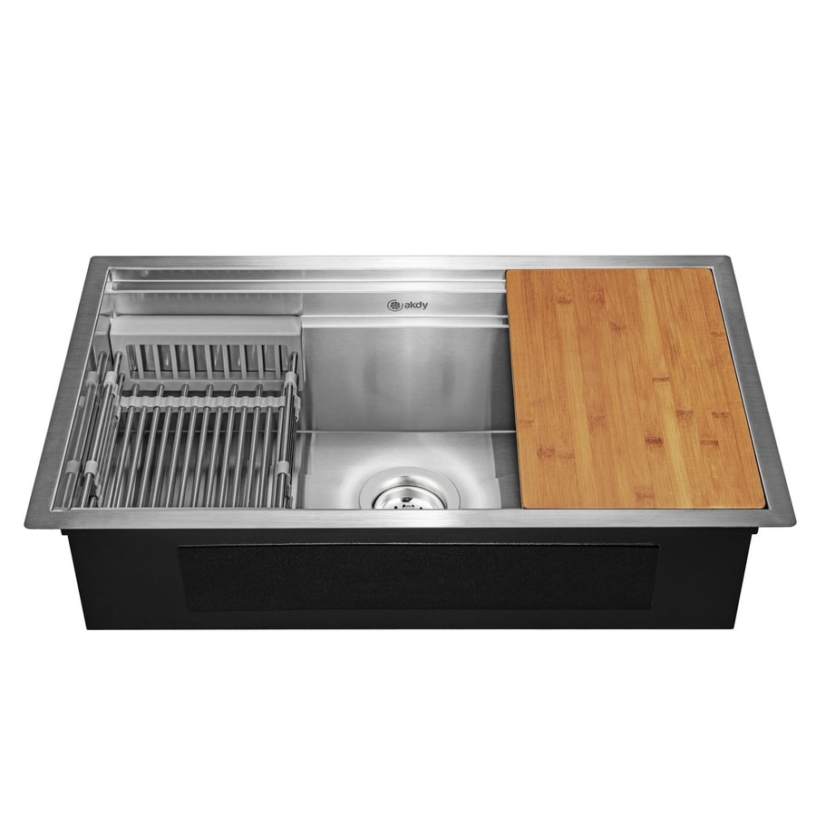 Akdy Handmade 33 In X 20 In Stainless Steel Double Basin