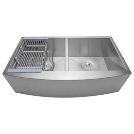 Apron Front Farmhouse Kitchen Sinks At Lowes Com