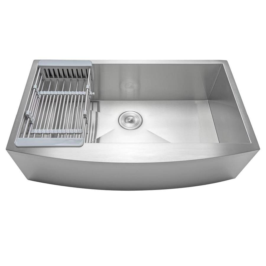 Akdy Handmade Farmhouse Apron Front 30 In X 20 In Stainless Steel Single Bowl Kitchen Sink All In One Kit In The Kitchen Sinks Department At Lowes Com